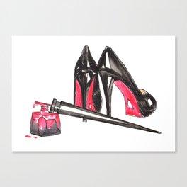 High Heels and nail polish art Canvas Print