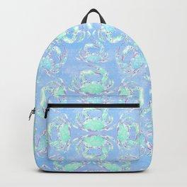 Watercolor blue crab Backpack