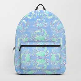 Watercolor blue crab Backpack