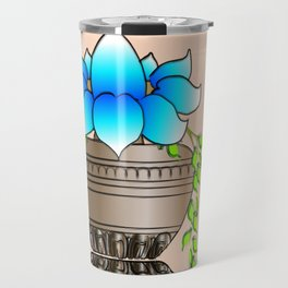 Blue Lotus Travel Mug