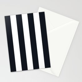 Vertical Stripes Black & White Stationery Cards