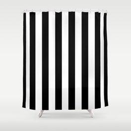 Parisian Black & White Stripes (vertical) Shower Curtain