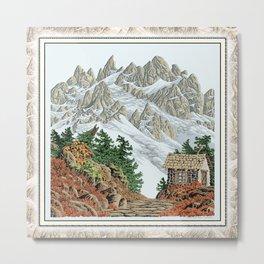 BEYOND MOUNT SHUKSAN AUTUMN COLOR VERSION Metal Print