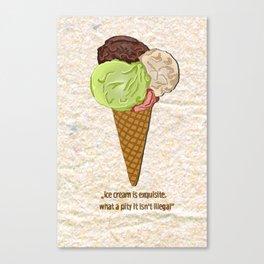 ice cream is exquisite Canvas Print