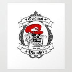 Original Plumber Art Print