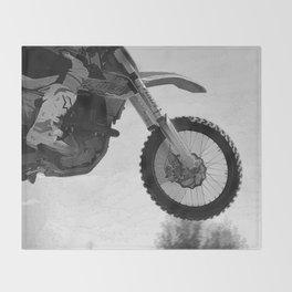 Motocross Dirt-Bike Racer Throw Blanket