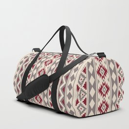 Aztec Essence Ptn IIIb Red Cream Taupe Duffle Bag