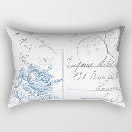 Lucienne in Blue Rectangular Pillow
