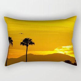Seagull Over Saddleback Mountain at Sunrise Rectangular Pillow