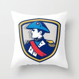 Napoleon Bonaparte Bicorn Hat Crest Retro Throw Pillow