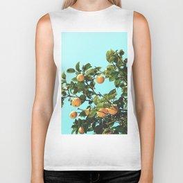 Summer Orange Tree Biker Tank