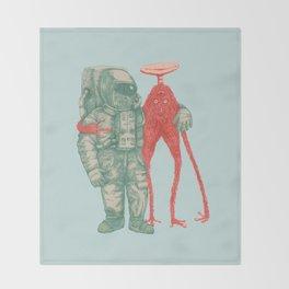 Alien & Astronaut Throw Blanket