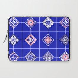 Talavera Mexican Tile – Pink & Periwinkle Palette Laptop Sleeve