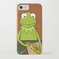 kermit iPhone & iPod Cases featuring Kermit by Sylvie R.