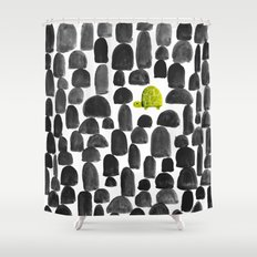 Turtle in Stone Garden Shower Curtain