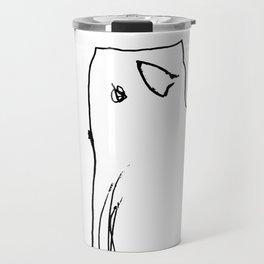 Cute Minimalist Hand Drawn Cat Travel Mug