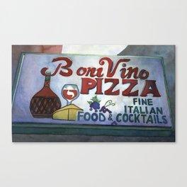 Boni Vino Canvas Print