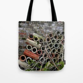 Pipe Texture Tote Bag
