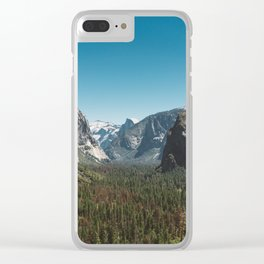 Tunnel View, Yosemite National Park V Clear iPhone Case