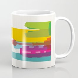 Shapes of Seoul accurate to scale Coffee Mug