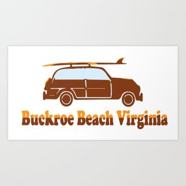 Buckroe Beach - Virginia. Art Print