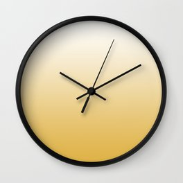 Mustard Yellow and White Gradient Wall Clock