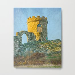 Old John Tower With Texture Metal Print