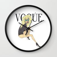 vogue Wall Clocks featuring VOGUE by LydiaSchüttengruber