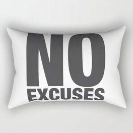 No Excuses - Gray Rectangular Pillow