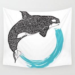 Orca Circle Wall Tapestry