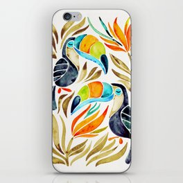 Tropical Toucans – Sepia Palette iPhone Skin