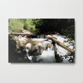 Fall Creek - Tumbling Down from Endlich Mesa, at 10,000 feet Metal Print