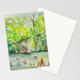 Krause Springs - historic Texas natural springs swimming hole Stationery Cards