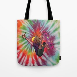 SKATER JESUS WITH BEER AND EL BARTO TATTOO Tote Bag