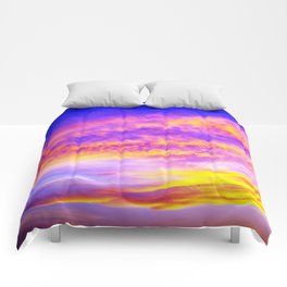 colors of the sky Comforters