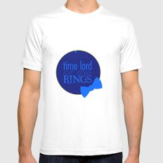 Time Lord of the Rings Mens Fitted Tee White SMALL