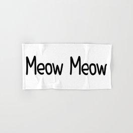 Meow Meow Hand & Bath Towel