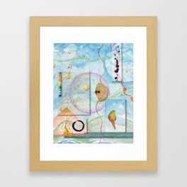 Song for Orange Bellied Parrot Framed Art Print