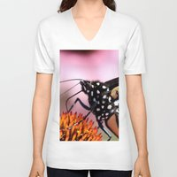 furry V-neck T-shirts featuring Furry Fellow by IowaShots