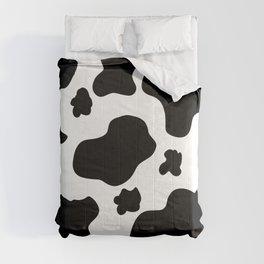 Cow Print Pattern / White / Black Comforters