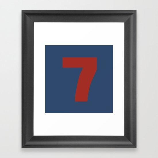 Number 7 Framed Art Print