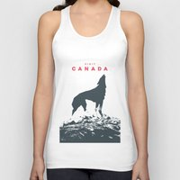 canada Tank Tops featuring Visit Canada by ahutchabove