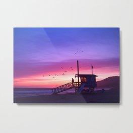 Sunset Tower Metal Print