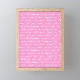 imagine love (light pink) Framed Mini Art Print