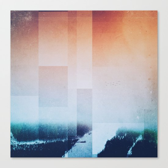 Fractions A85 Canvas Print