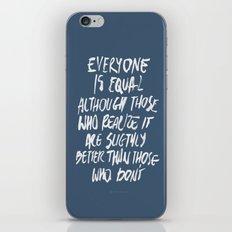 Equal iPhone & iPod Skin
