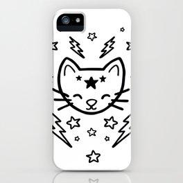 Mystic Cat - Black iPhone Case