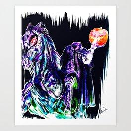 The Headless Horseman of Sleepy Hollow Art Print