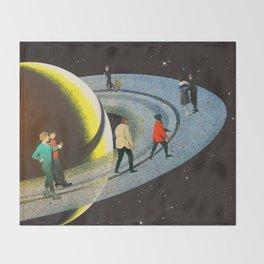 Saturn's Rink Throw Blanket