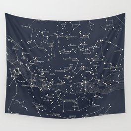 Carte du Ciel I Wall Tapestry
